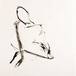 Acryl/Tusche auf Papier, 15 x 15 cm