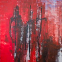 Drei Grazien. Acryl auf Leinwand. 150 x 180 cm. 2019
