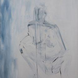 Ohne Titel. Acryl auf Leinwand. 100 x 150 cm. 2020