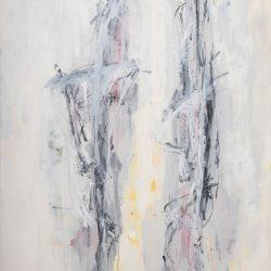 Ohne Titel. Acryl auf Leinwand. 140 x 220 cm. 2017