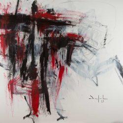 Ohne Titel. Acryl auf Leinwand. 190 x 150 cm. 2017
