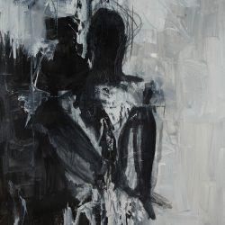 Medea V. Acryl auf Leinwand. 100 x 150 cm. 2017