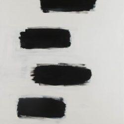 Dass weiß weiß ist und schwarz schwarz. Acryl auf Leinwand. 100 x 150 cm. 2017