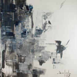 Ohne Titel. Acryl auf Leinwand. 150 x 180 cm. 2017