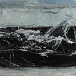 Medea VIII. Acryl auf Leinwand. 155 x 75 cm. 2017