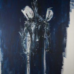 Ohne Titel. Acryl auf Leinwand. 150 x 210 cm. 2018