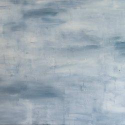 Der Kranich nur noch ein Vogel. Acryl auf Leinwand. 300 x 150 cm. 2012