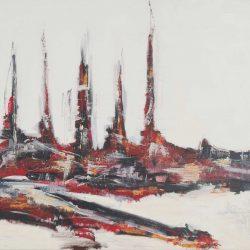 Ohne Titel. Acryl auf Leinwand. 180 x 80 cm. 2011
