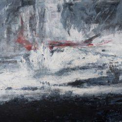 Alles wird Ufer wartet auf das Meer. Acryl auf Leinwand. 180 x 140 cm. 2012