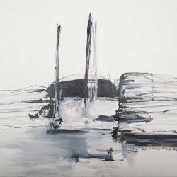 Ohne Titel. Öl auf Leinwand, 180 x 140 cm. 2013